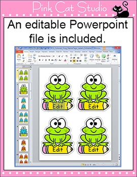 Frog Theme Labels and Name Tags