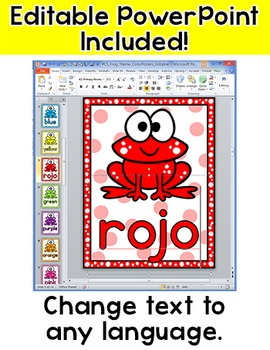 Frog Theme Classroom Decor - Editable Colors Posters