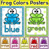 Frog Theme Classroom Decor - Editable Colors Posters