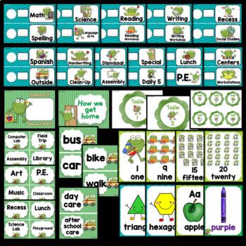 Frog Theme Classroom Decor EDITABLE (Frog Classroom Theme Decoration)