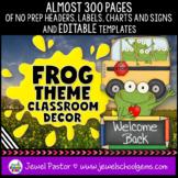 Frog Theme Classroom Decor EDITABLE (Frog Classroom Theme