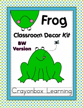 Frog Theme Classroom Decor Kit - Black & White Version only