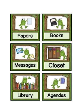 Frog Theme Classroom Job Cards