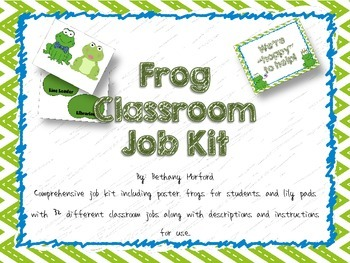Frog Theme Classroom Jobs Kit