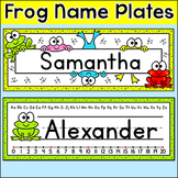 Frog Classroom Decor Editable Name Plates - Frog Classroom Theme
