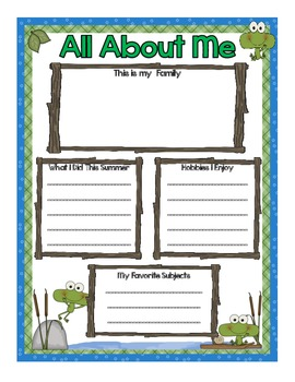 Back to School Frog Theme Classroom Pack