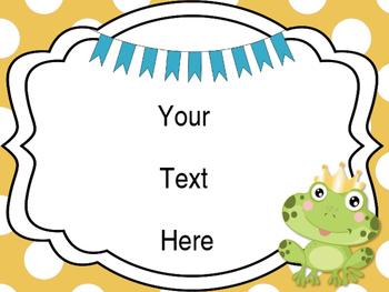 Frog Theme Classroom Posters {EDITABLE}