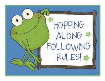Frog Theme Classroom Rules