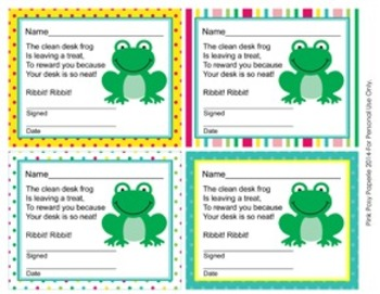 Frog Theme Clean Desk Awards