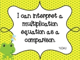 """Frog Theme Common Core Fourth Math Standards """"I Can"""""""