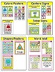 Frog Theme Decor Bundle: Job Labels, Binder Covers, Name Tags etc