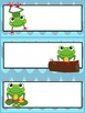 Frog Theme EDITABLE Schedule Cards