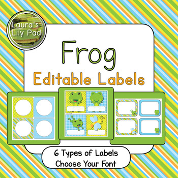 Frog Theme Editable Labels