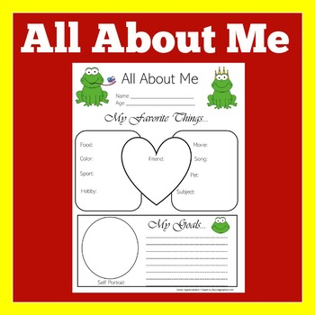 Frog Theme   Frog Theme Classroom   All About Me