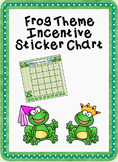 Frog Theme Incentive Sticker Chart