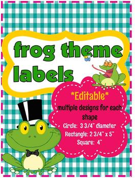 Frog Theme Labels (editable)