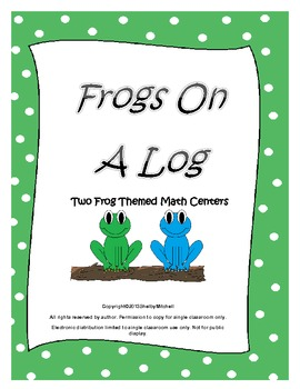 Frog Theme Math Centers