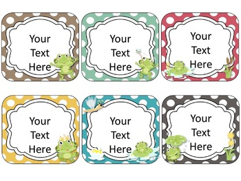Frog Theme Name Cards {EDITABLE}