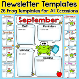 Newsletter Template Editable for Any Language - Frog Theme