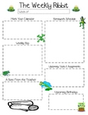 Frog Theme Newsletter and Homework Templates