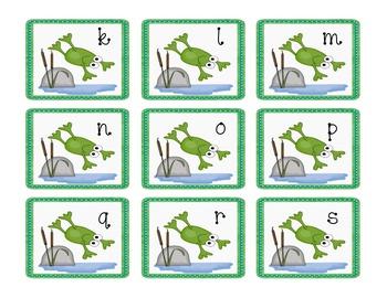 Frog Theme Partner Cards