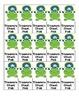 Frog Theme Reward Charts, Reward Tickets, and Positive Notes