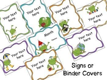 Frog Theme Classroom {Editable}