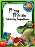 Frog Theme Pocket Chart Subject Schedule Cards and Calendar