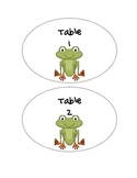 Frog Theme Table Number Signs 1-6