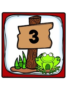 Frog Theme Table Numbers 1-8