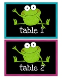 Frog Theme Table Numbers