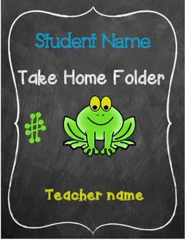 Frog Theme Take Home Folder Insert
