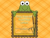 Frog Theme Word Wall Letters or ABC Flash Cards