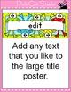 Frog Theme Word Wall