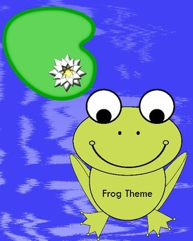 Frog Theme for Classroom