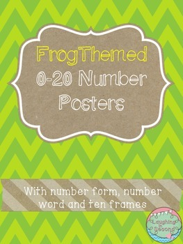 Frog Themed 0-20 Numbers Posters