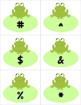 Frog Themed ABC Recognition Game!  Free!