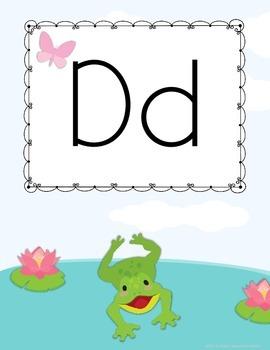 Frog Themed Alphabet
