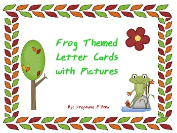 Frog Themed Alphabet Cards