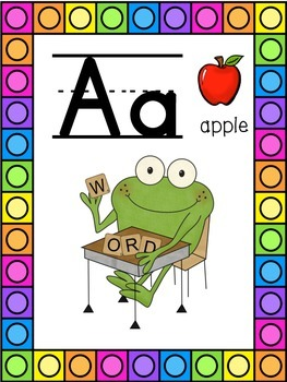 Frog Themed Alphabet Posters