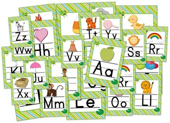 Frog Themed Alphabet Posters Signs