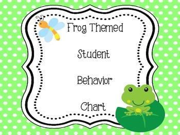 Frog Themed Behavior Chart - Clip System