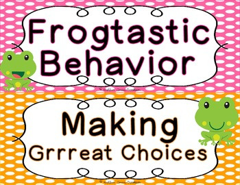 Frog Themed Behavior Clip Chart