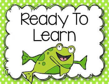 Frog Themed Behavior Management Clip Chart and Behavior Log