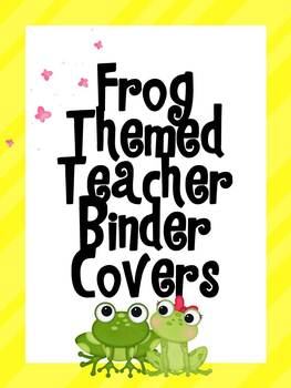Frog Themed Binder Covers