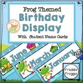 Frog Themed Birthday Display