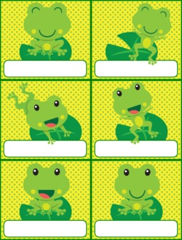Frog Themed Birthday Display // Poster