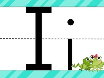 Frog Themed Blue Alphabet Set