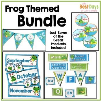 Frog Themed Classroom Decor Bundle