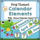 Frog Themed Calendar Headers